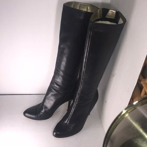 Leather tall boots